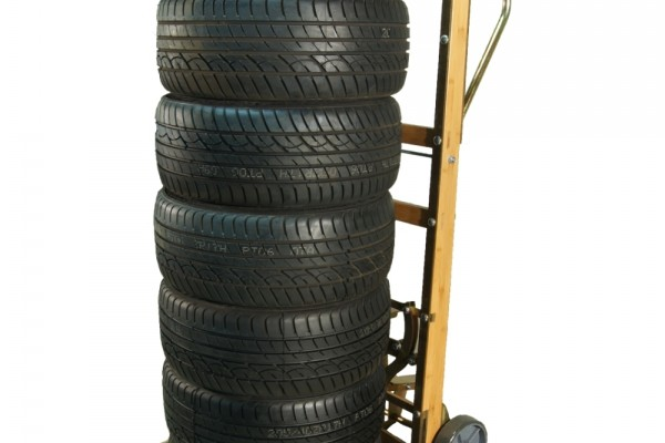 Heavy Duty Wooden Tire Cart